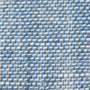 Chambray fabric square close up
