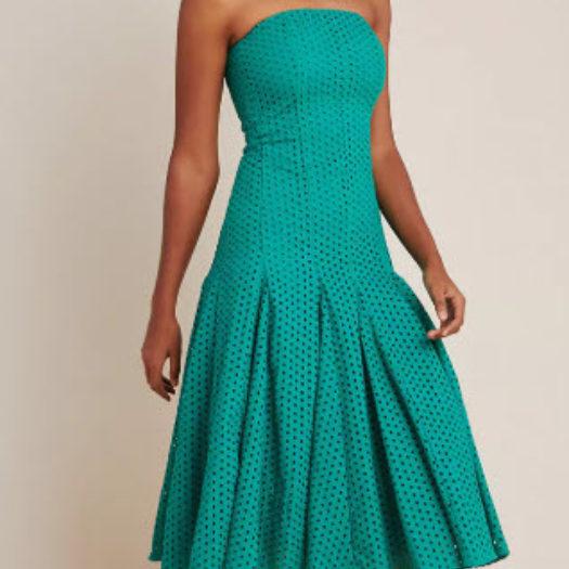 Lelia Eyelet Midi Dress