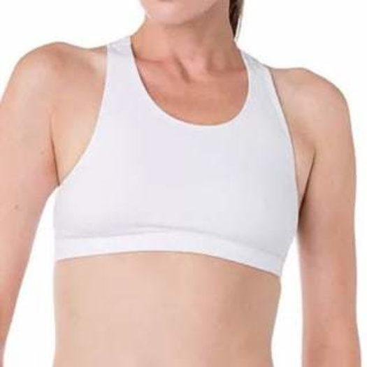 Essentials Cotton Stretch Sports Bra
