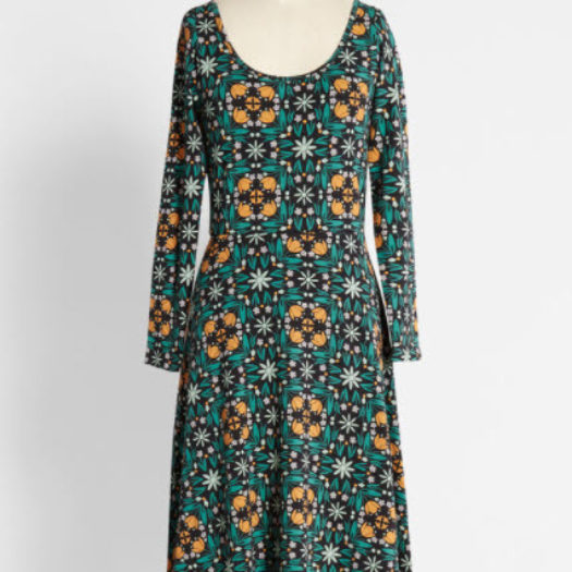 Kaleidoscopic Gardens A-Line Dress