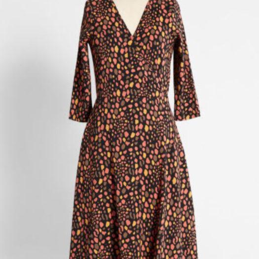 Lava Java Leopard Wrap Dress