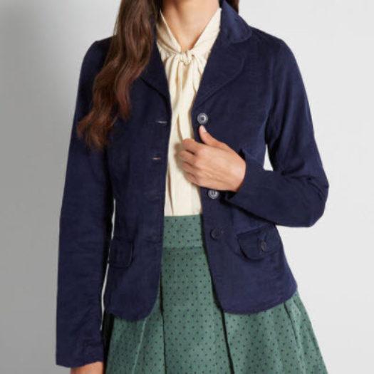 Women's Cotton Blazer - Courtesy of Confidence