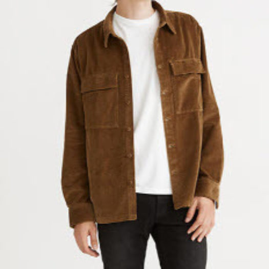 Men's Corduroy Shirt - Easy Long Sleeve