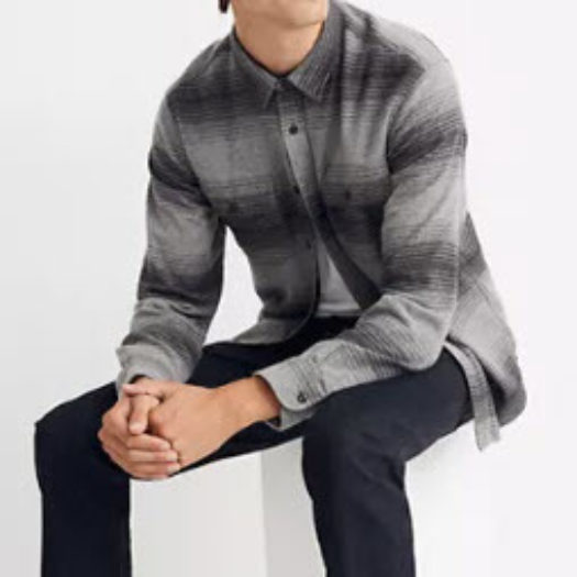 Double-Brushed Flannel Long-Sleeve Workshirt