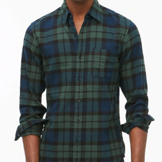 Plaid regular flannel shirt