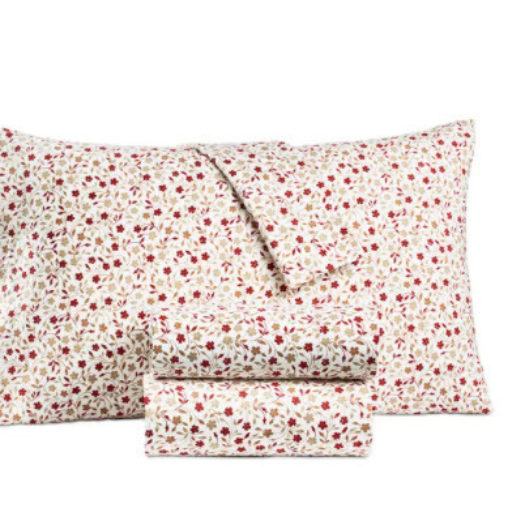 Printed 100% Cotton Flannel Pair of Standard Pillowcases
