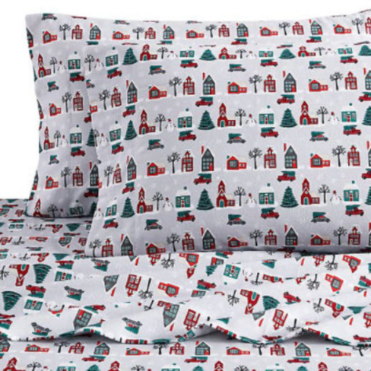 Bee & Willow™ Home Christmas Village Flannel Full Sheet Set
