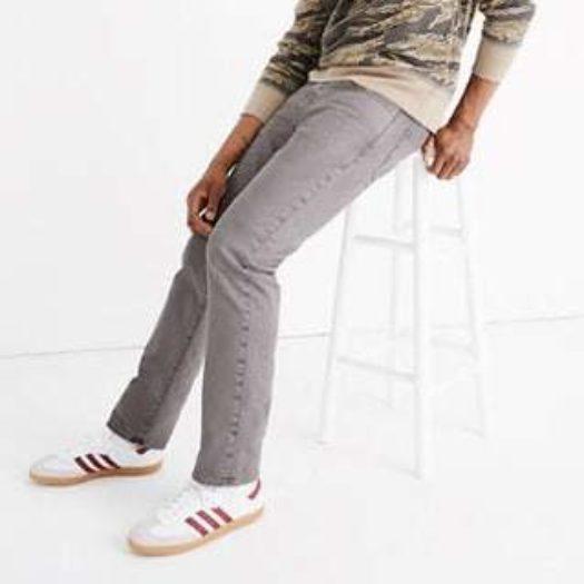 mens garment dyed sllim everyday flex jeans madewell main