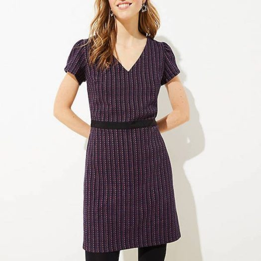Boucle Flare Dress