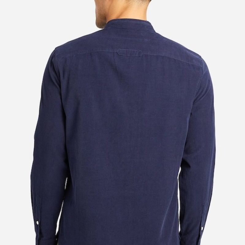 back of aleks blue cord shirt