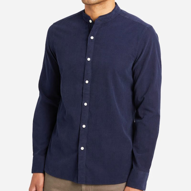 front of aleks blue cord shirt