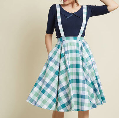 Blue Gingham Pinafore