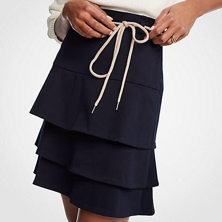 Cotton Flounce Skirt