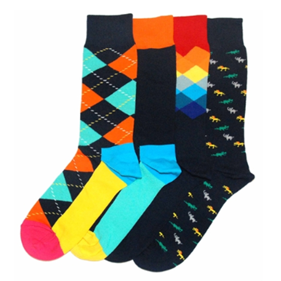Happy Socks socks and Happy Socks underwear add color to your life. Boring colors are hard to find but you will discover blue, green, yellow, pink, dark, bright, purple as well as red socks and underwear - boxers and boxer briefs - in various sizes.