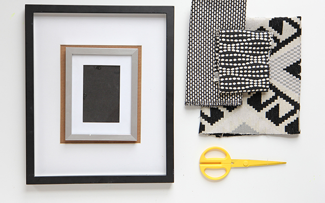 Diy fabric picture frames diy cotton for Diy fabric picture frame