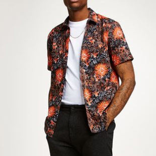 Floral Printed Men Shirt