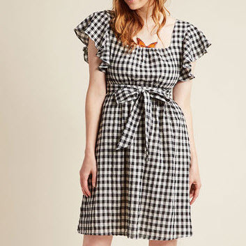 Gingham Dress 1
