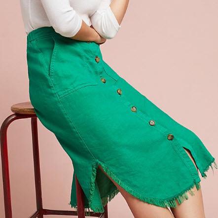 Green Denim Midi