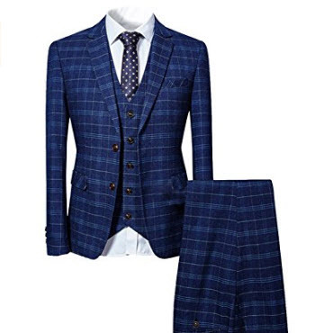 Mens Three Piece Suit Cotton