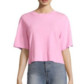 Pink Cotton Tee Shirt