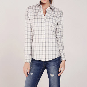 Plaid Women Button Down