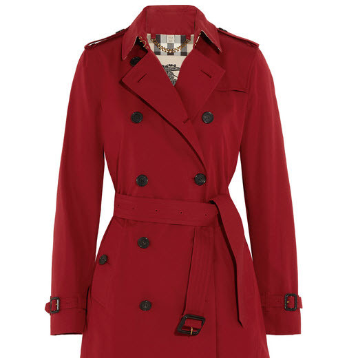 Red Cotton Trench