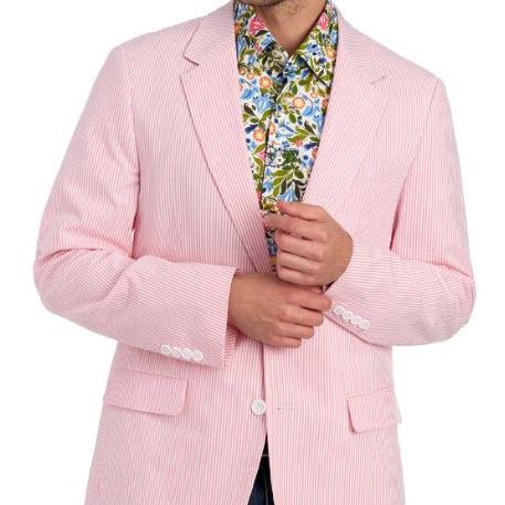 Seersucker Pink Jacket