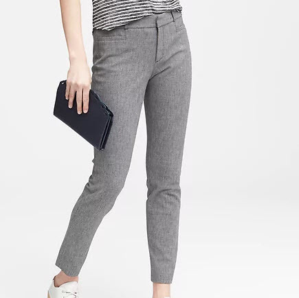 Skinny Fit Texture Pant
