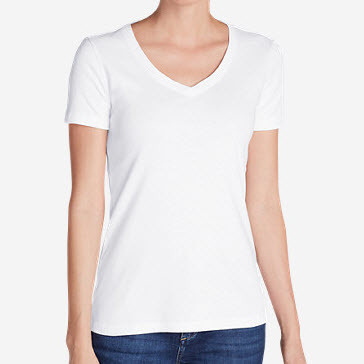 White Cotton Tee Women