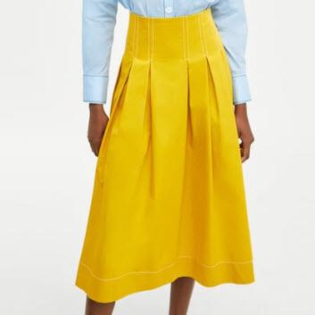 Yellow Zara Skirt